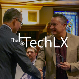 Award being given at the TechLX event