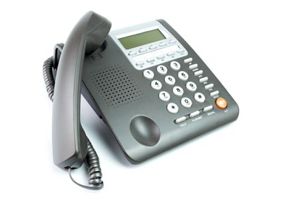 office phone off the hook