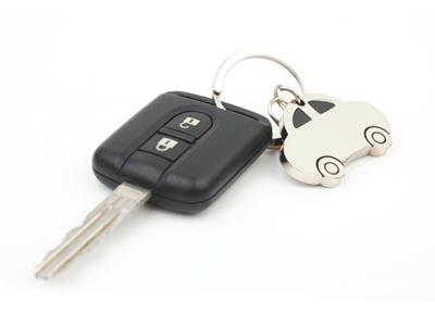 car keys with car keychain